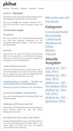 Vorschau der mobilen Webseite www.philtrat.de, philtrat