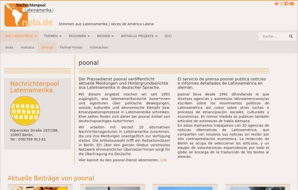 Vorschau von www.npla.de, poonal