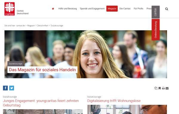 Vorschau von www.sozialcourage.caritas.de, Sozialcourage