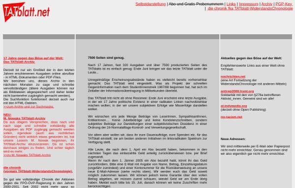 Vorschau von www.tatblatt.net, TATblatt