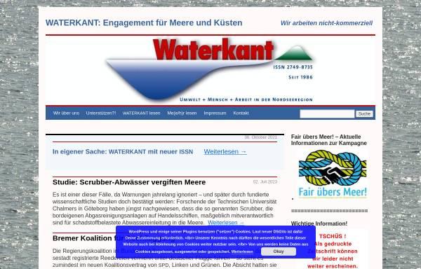 Vorschau von www.waterkant.info, Waterkant