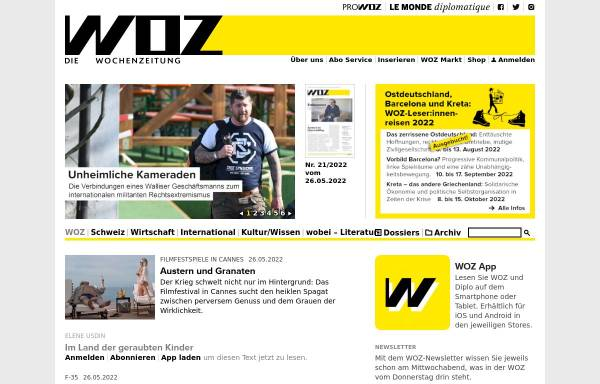 Vorschau von www.woz.ch, WochenZeitung - WoZ