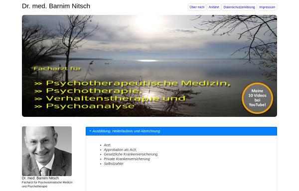 Vorschau von www.psychotherapie-dr-nitsch.de, Facharzt für Psychotherapeutische Medizin - Dr. Nitsch
