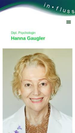 Vorschau der mobilen Webseite www.hanna-gaugler.de, Hanna Gaugler