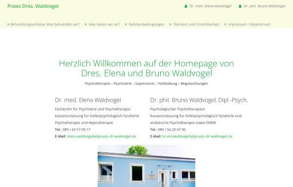 Vorschau von www.bruno-waldvogel.de, Psychoanalyse und Tiefenpsychologisch fundierte Psychotherapie - Dr. Bruno Waldvogel