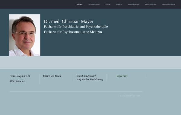 Vorschau von www.drchristianmayer.de, Psychotherapie - Dr. med. Christian Mayer