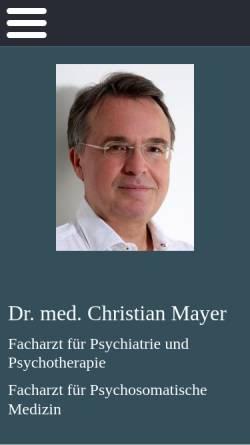 Vorschau der mobilen Webseite www.drchristianmayer.de, Psychotherapie - Dr. med. Christian Mayer