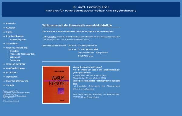Vorschau von www.doktorebell.de, Tiefenpsychologisch fundierte Psychotherapie - Dr. med. Hansjörg Ebell