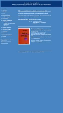Vorschau der mobilen Webseite www.doktorebell.de, Tiefenpsychologisch fundierte Psychotherapie - Dr. med. Hansjörg Ebell