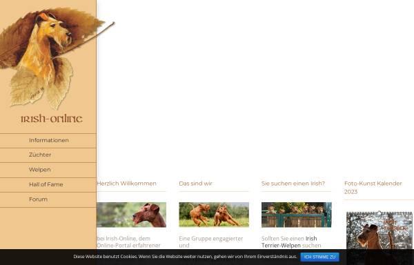 Vorschau von www.irish-online.de, Irish Terrier Gemeinschaft