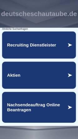 Vorschau der mobilen Webseite www.deutscheschautaube.de, Deutsche Schautauben