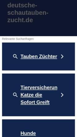 Vorschau der mobilen Webseite www.deutsche-schautauben-zucht.de, Deutsche Schautaubenzucht