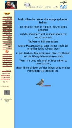 Vorschau der mobilen Webseite www.show-racer-seite.de, Franks Show Racer Seite