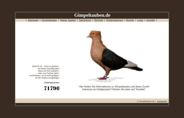 Vorschau von www.gimpeltauben.de, Gimpeltauben