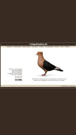 Vorschau der mobilen Webseite www.gimpeltauben.de, Gimpeltauben
