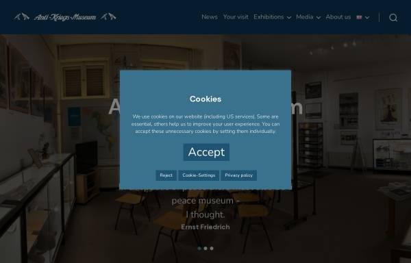 Vorschau von www.anti-kriegs-museum.de, Anti-Kriegs-Museum
