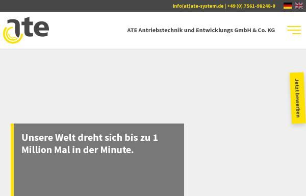 Vorschau von www.ate-system.de, ATE Antriebstechnik und Entwicklungs GmbH