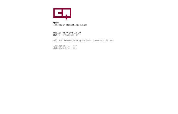 Vorschau von quin.de, ATQ Antriebstechnik Quin GmbH