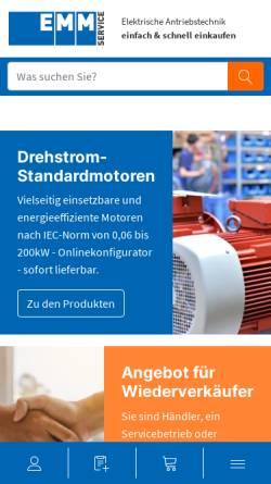 Vorschau der mobilen Webseite www.elektromotorenmarkt.de, Elektromotorenmarkt.de
