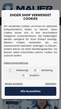 Vorschau der mobilen Webseite www.motor-mauer.de, Mauer Antriebstechnik oHG