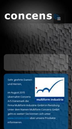 Vorschau der mobilen Webseite www.multiform-imd.de, Multiform Industrie GmbH