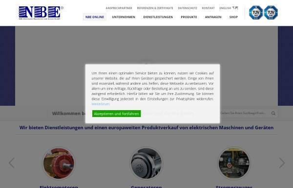 Vorschau von www.nbe-online.de, NBE Elektrische Maschinen und Geräte GmbH