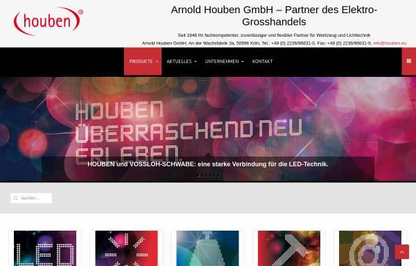 Vorschau von houben.eu, Arnold Houben GmbH