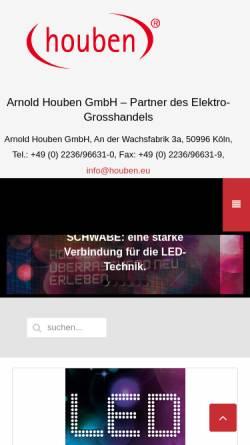 Vorschau der mobilen Webseite houben.eu, Arnold Houben GmbH