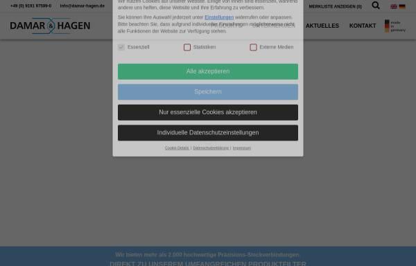 Vorschau von www.damar-hagen.de, Damar & Hagen Stecksysteme GmbH