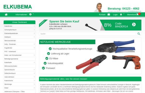 Vorschau von www.elkubema.de, Elkubema Vertriebs-GmbH