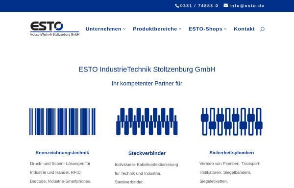 Vorschau von www.esto-gruppe.de, ESTO IndustrieTechnik Stoltzenburg GmbH