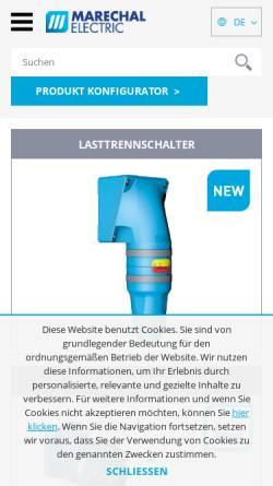 Vorschau der mobilen Webseite marechal.com, Marechal GmbH