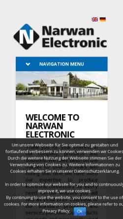 Vorschau der mobilen Webseite www.narwan-electronic.de, Narwan Electronic GmbH