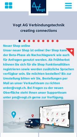 Vorschau der mobilen Webseite www.vogt.ch, Vogt AG