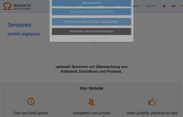 Vorschau von www.binsack-reedtechnik.de, Binsack Reedtechnik GmbH