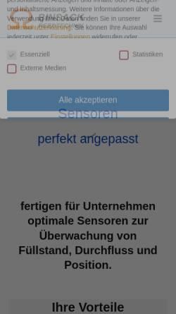 Vorschau der mobilen Webseite www.binsack-reedtechnik.de, Binsack Reedtechnik GmbH