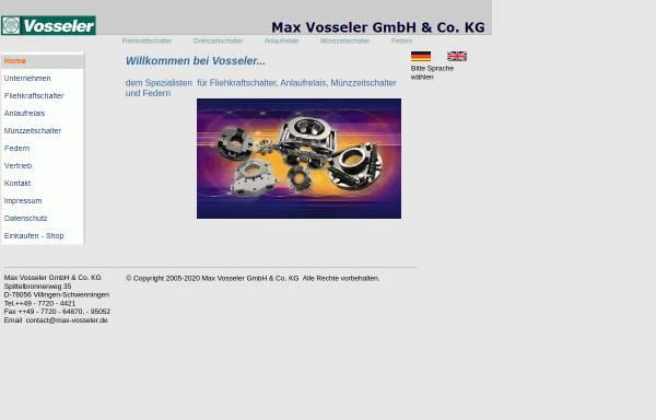 Vorschau von www.max-vosseler.de, Max Vosseler GmbH & Co. KG