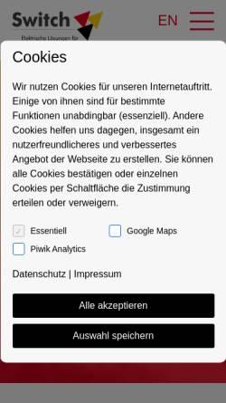 Vorschau der mobilen Webseite www.switch-gmbh.de, Switch GmbH & Co. KG