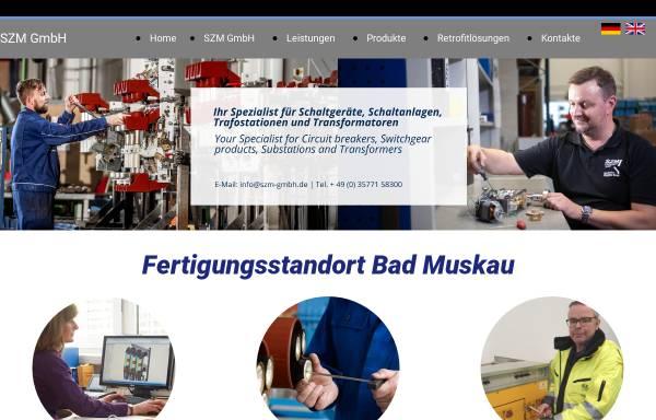 Vorschau von www.szm-gmbh.de, SZM SchaltanlagenZubehör Bad Muskau GmbH
