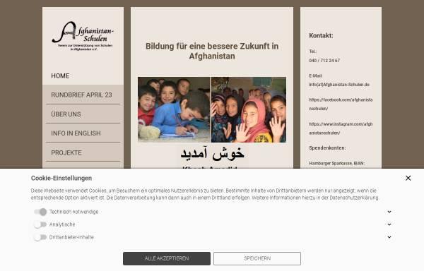 Vorschau von www.afghanistan-schulen.de, Verein zur Unterstützung von Schulen in Afghanistan e.V.