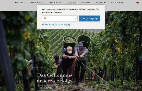 Vorschau von drloosen.com, Weingut Dr. Loosen