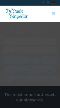 Vorschau der mobilen Webseite www.pauly-bergweiler.com, Weingut Dr. Pauly-Bergweiler