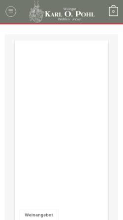 Vorschau der mobilen Webseite weinpohl.de, Weingut Karl O. Pohl