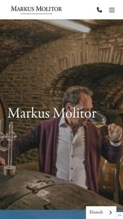 Vorschau der mobilen Webseite markusmolitor.com, Weingut Markus Molitor