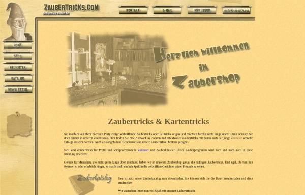 Vorschau von zaubertricks.com, Zaubertricks.com