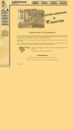 Vorschau der mobilen Webseite zaubertricks.com, Zaubertricks.com