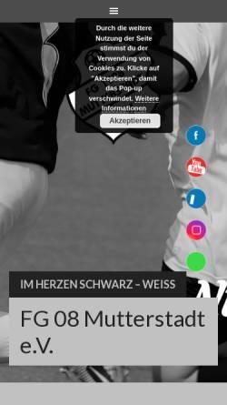 Vorschau der mobilen Webseite www.fg08-mutterstadt.de, FG 08 Mutterstadt