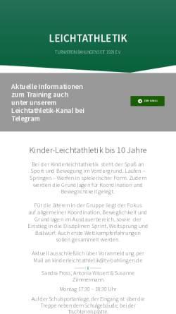 Vorschau der mobilen Webseite leichtathletik-bahlingen.de, Bahlinger SC
