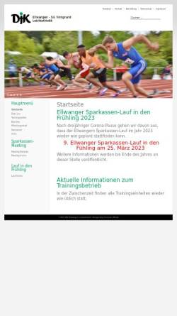 Vorschau der mobilen Webseite www.leichtathletik-ellwangen.de, DJK Ellwangen - SG Virngrund
