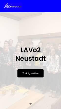Vorschau der mobilen Webseite www.lav-neustadt.de, LAV 02 Neustadt e. V.